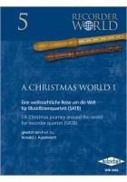 A Christmas World 1 für Blockflötenquartett