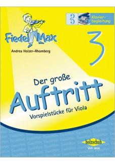 Fiedel-Max für Viola  - Der große Auftritt Band 3